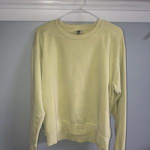Pastel yellow sweatshirt